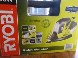 Ryobi 80W palm sander with sanding discs Armidale Armidale City Preview
