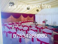 Zia marquee hire , stage hire ,house lighting, tent hire, Mehndi stage, Chair hire table hire