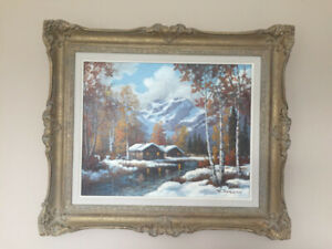 ORIGINAL VINTAGE OIL PAINTING BY W. HARISCH FOR SALE