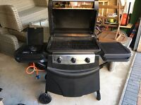 Gas BBQ barbecue 3 burner and side hob