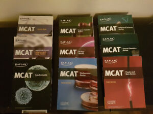 Gently used KAPLAN MCAT REVIEW PACKAGE (9 books)