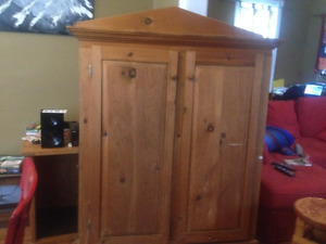 Hand crafted pine jam cupboard (double sided)