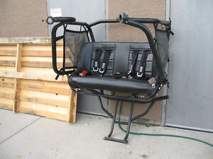 For Polaris RZR Rear cage and bench seat w harnesses