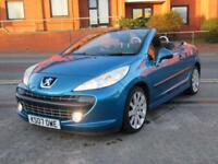 Peugeot 207 CC 1.6 16v 120 Coupe GT + ONLY 84,000 MILES