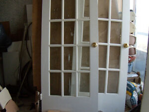 Doors with glass insert