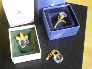 3 - Swarovski Crystal Memories Brooches/Pins and Pendant
