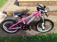 """Girls Carrera Luna 16"""" Bike in Pink"""