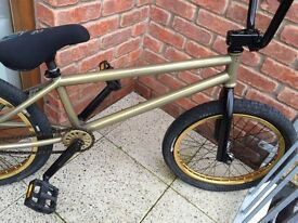 Custom built wethepeople bmx bike, stunt bicycle jump mtb skatepark