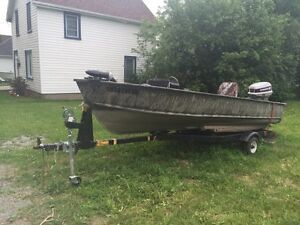 16ft fishing boat 60hp evinrude