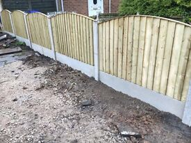 🔨🌟Bow Top Vertical Board Pressure Treated Fence Panels