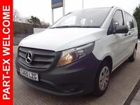 2015 Mercedes-Benz Vito 111 CDI, Crew Van Compact Diesel white Manual