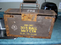 Antique Wooden Ammo Box 16 by 9