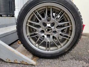 17 inch Hankook Winter Tires with BMW replica rims