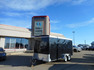 2016 TNT 7x16ft Enclosed Trailer Ex Height/Ramp/Black $7299