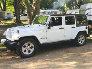 Jeep Wrangler Sahara Unlimited 2015 4X4 Blanc