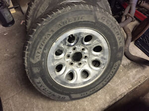 GMC/Chev Winter Tires on Rims  245/70 R 17