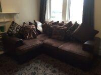 Faux Leather Brown Corner Sofa 2. Seater Sofa