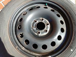 BRIDGESTONE BLIZZAK Winter Tires on Steel Rims  225/60/R17