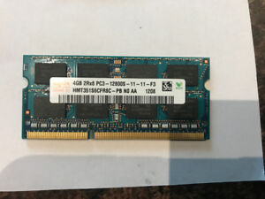 4GB Laptop memory, Hynix, PC3-12800 DDR3 1600MHz non-ECC