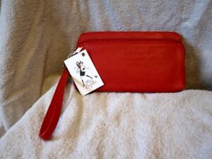 Brand new, soft red leather, little red purse