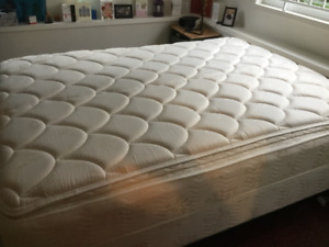 LIKE NEW QUEEN MATTRESS, BOX SPRING AND FRAME