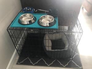Cage 30 pouces et accessoires pour chien