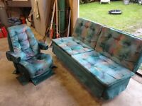 RV bench seat and matching captain chair - $300 (Richmond)