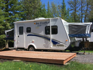 Camping trailer available at cedar shade campground in Alfred