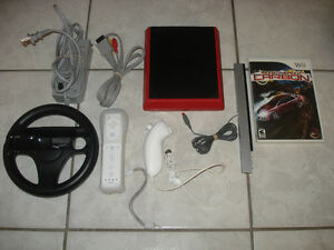 Wii Mini w/Need for Speed Carbon & Mario Kart Wii!