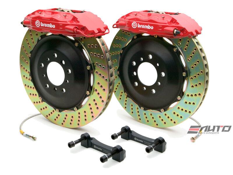Brembo Rear  Gt Brake Bbk 4pot Red 380x32 Drill Escalade Chevy Gmc 1500 07-14