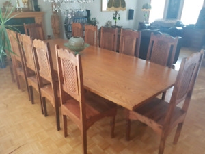12 seat dining table & chairs