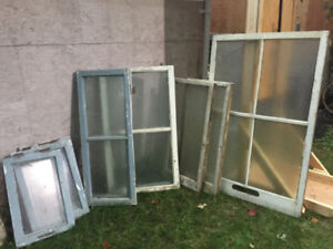 Wooden Storm Windows - most with Glass
