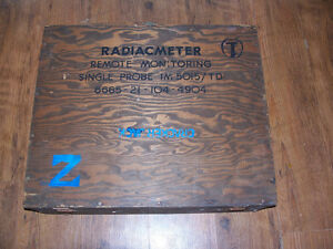 Vintage Military Crate 24 by 20 Used to hold equipment for test