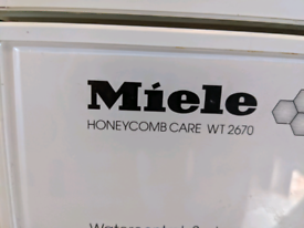 Miele honey comb care washer dryer wt2670
