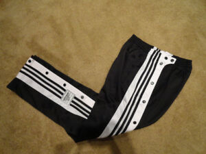 Adidas Black White Tearaway Pants Mens S Like New Never Worn
