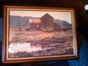 Jack Reid Watercolour - Scenic Picture of Barn and Land