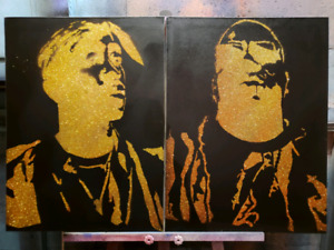 Tupac n Biggie 17 x 24 Canvas
