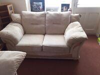 Cream 2 seater and 3 seater sofa