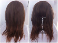 Brown Ombre Wig - Straight bangs/ Heat resistant