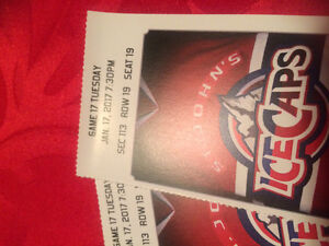 Ice cap tickets Jan 17. And jan18