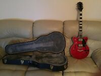 Gretsch Streamliner Semi Hollow Guitar in Flagstaff Red with Hard Case and Strings