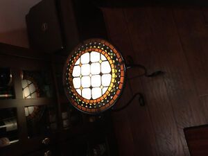 mosaic side table with light Windsor Region Ontario image 1
