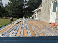 Looking for someone to scrape flaking paint off deck.