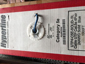 CAT5e Network / Ethernet cable 180ft and 1000ft rolls.