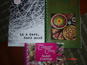 2 cook book and one novel
