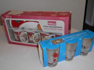 Christmas Mugs 'n Glasses (Never Opened)