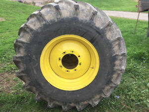 18.4 X 26 JD Combine Tires and Rims