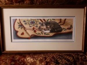 Janette ONeil signed and numbered cat print - sweet dreams