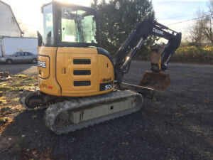 2014 John Deere 50G Mini Excavator, Well Maintained
