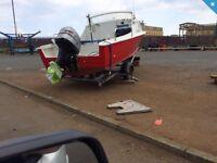 18ft fishing boat mariner 50 trim tilt